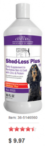 21st Century Shed-Less PLUS Dog Skin & Coat Supplement